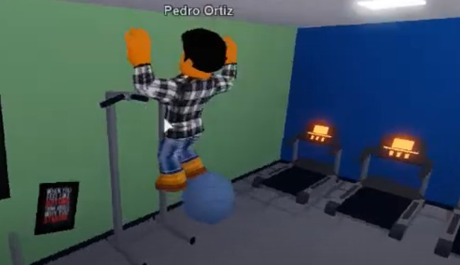 get into the fitness room to try any facilities there1
