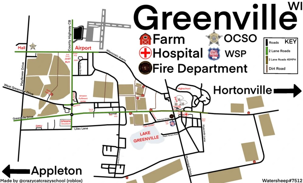 map available for Roblox Greenville