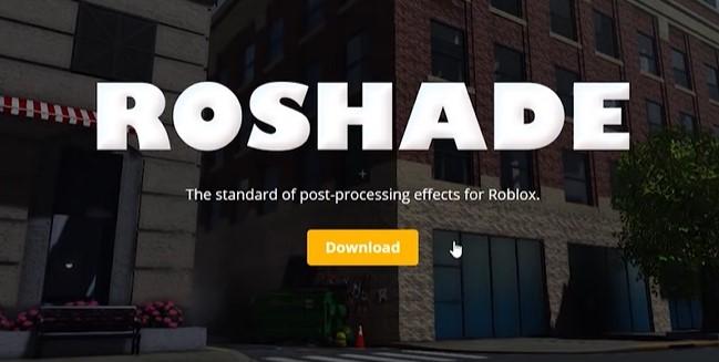 Download button under the big word RoShade