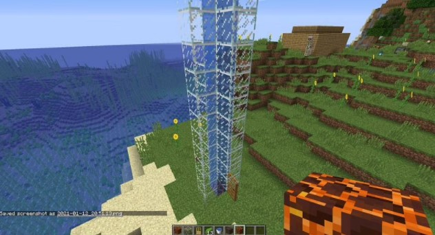 Replacing the block at the bottom with a magma