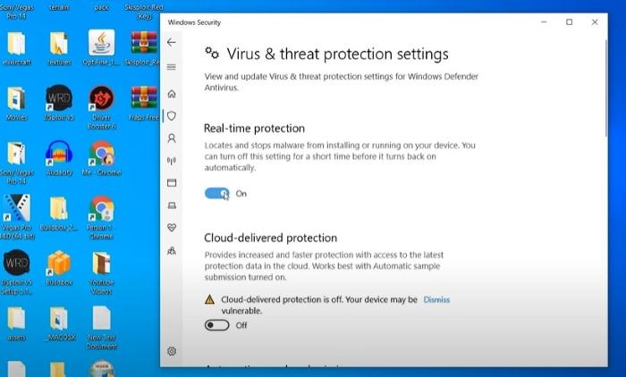 shut off anti virus