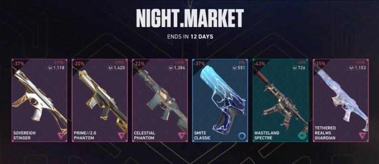 Best Night Market Valorant