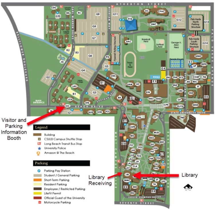 CSULB Library Map
