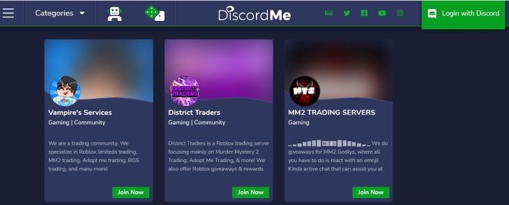 MM2 Trading Servers