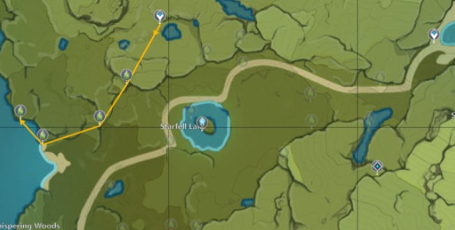 The Path of Gentle Breezes Moonchase Charms locations