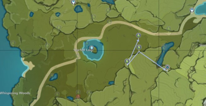 The fourth Charm route map