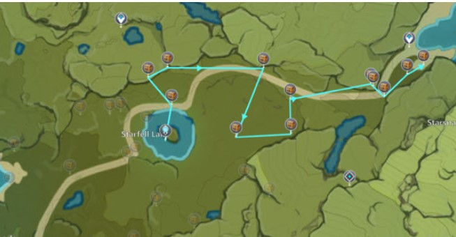 The fourth Chest route map