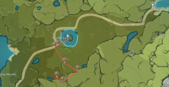 The second Chest route map