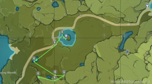 The third Charm route map