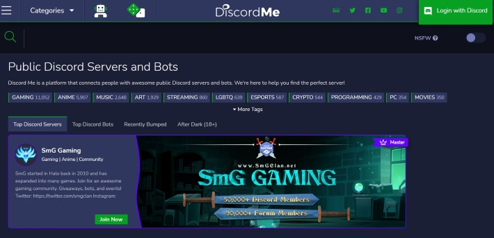 official website of Discord