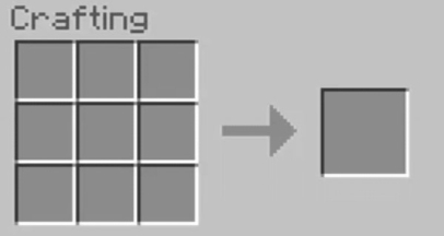 open the Crafting Table in the Crafting Menu